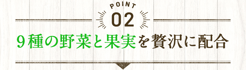 POINT2 9種の野菜と果実を贅沢に配合